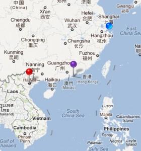 上海 - Hà Nội - 香港 - 上海