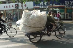 Recycler On Bicycle // 收集者骑自行车